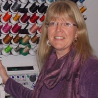Kicking Horse Embroidery owner, Susan Leigan.