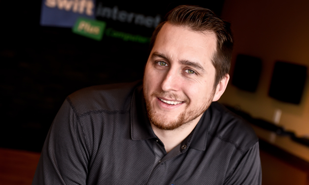 Kitt Santano is the founder and owner of Swift Internet Services in Creston, B.C.