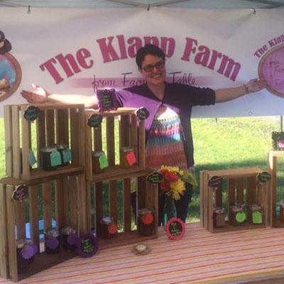 Candice Klapp at Farmers Market stall.