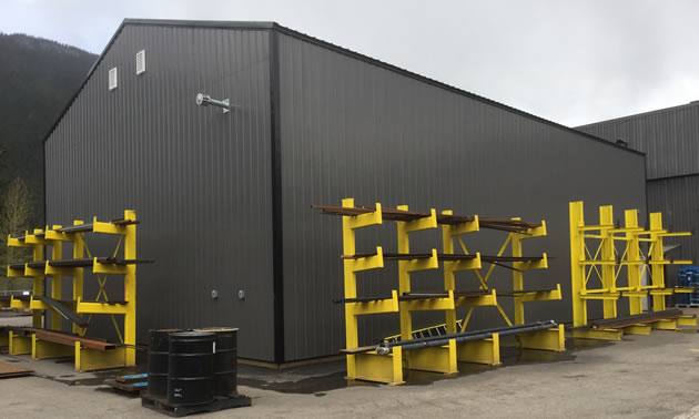 Metal and supply storage for the company