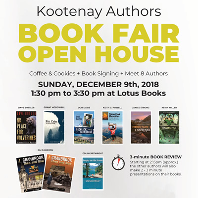 Poster for the Kootenay Authors Book Fair