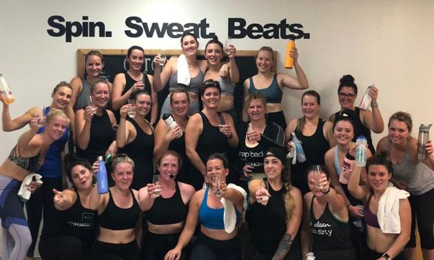 Team members at Kootenay Life Cycle group photo.