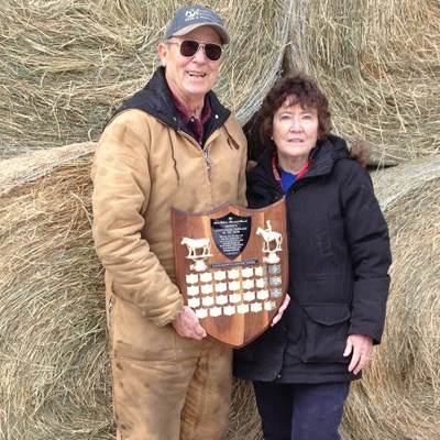 Karen and Doug Barraclough recently won the Kootenay Livestock Association's 2018 Agriculturalist of the Year award.