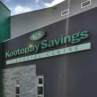 Exterior of Kootenay Savings Credit Union