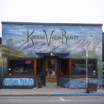 Colourful storefront of Kootenay Virtual Reality