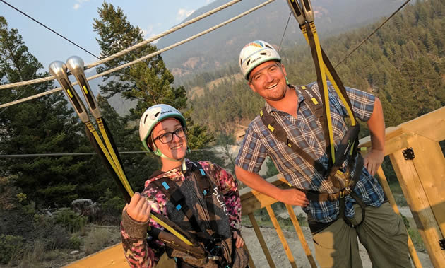 Krista Berg and Patrick Tolchard, owners of Valley Zipline Adventures in Radium Hot Springs, B.C., celebrated opening day on June 21, 2017.