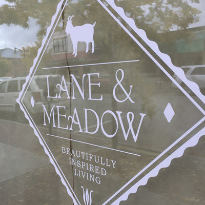 Lane and Meadow storefront.