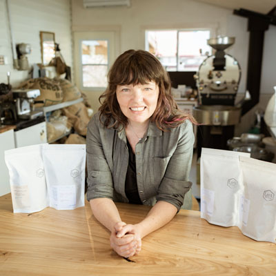 Ilana Cameron prefers sweet and clean-tasting coffee for her home-based business, Lark Coffee Roasters in Creston.