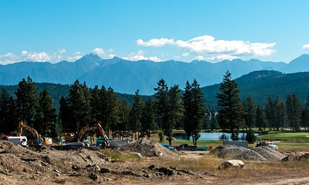 Legacy Lookout in Cranbrook construction site.