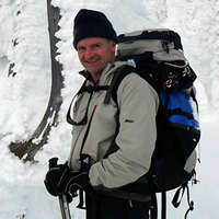 Lloyd Ferguson, owner of Totem Travel in Trail, B.C., enjoys a ski outing.
