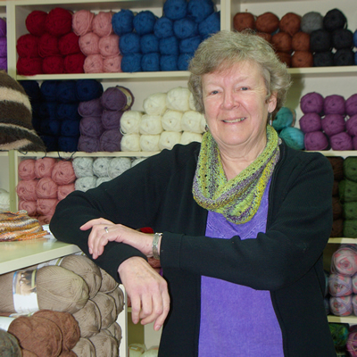 Lynn Relph, president of the Downtown Business Association in Grand Forks, B.C., owns and operates Lynden Tree Yarns.