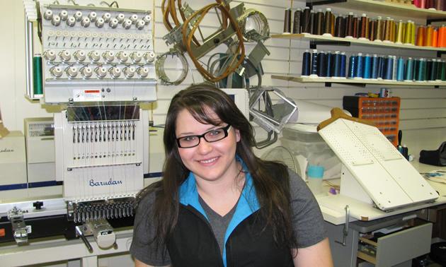 Melissa Hambalek, owner of Initial Designs Custom Embroidery in Cranbrook, B.C.