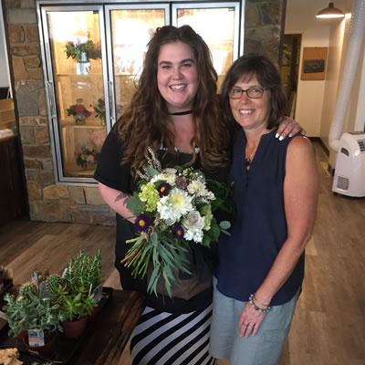 Kelsey and Brenda Taylor, co-owners of MJ's Floral Boutique in Cranbrook.