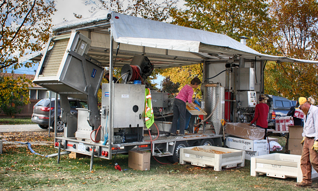 Creston's Fields Forward initiative has purchased a mobile juicer that will make good use of unsold produce from local gardens and orchards.