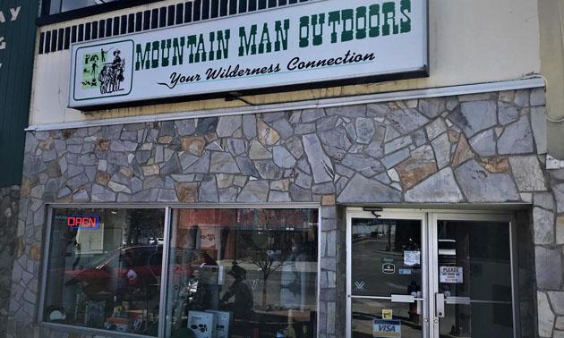 Exterior of Mountain Man Outdoors store.