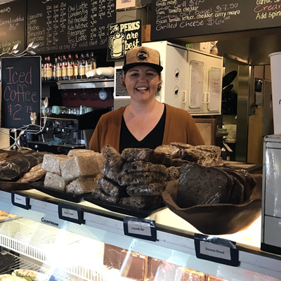 Shauntelle Nelson is the current owner/operator of Mugshots Café in Fernie, B.C. She has been there for 10 years now and finds that the relationships she builds with her staff and customers make coming to work every day a little bit better.