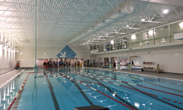 Pool guards train at the renovated facility.