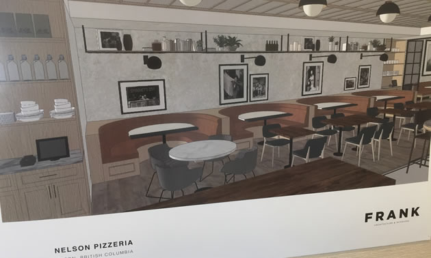 An artist's rendition of the new Neapolitan-style pizzeria.