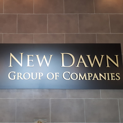 New Dawn Group of Companies sign