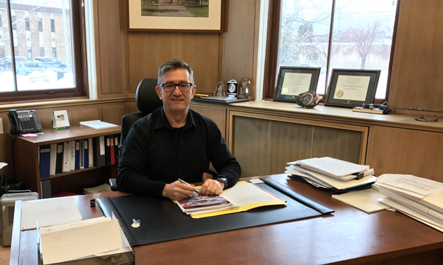 Norm McInnis, CAO of the City of Fernie, at his desk at City Hall
