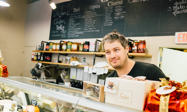 Olivier Dutil, co-owner of La Baguette Catering and Le Marché Gourmet specialty food store in Revelstoke, B.C.