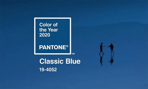 Classic Blue paint sample