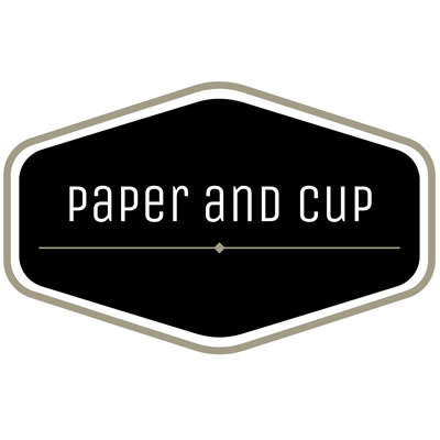 Logo of the Paper and Cup bookstore.
