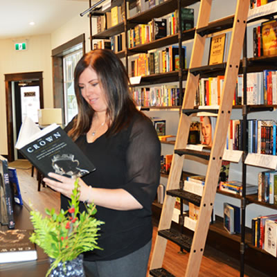 Brandi O'Neil, owner of the Paper and Cup bookstore in Kimberley.