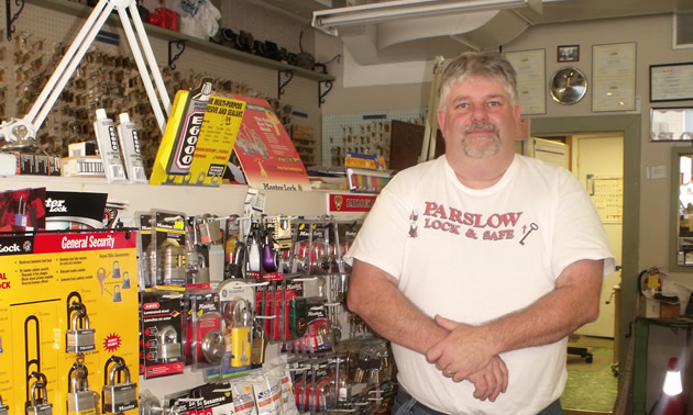 Randy Smith is the owner and operator of Parslow Lock & Safe Ltd. in Trail, B.C.