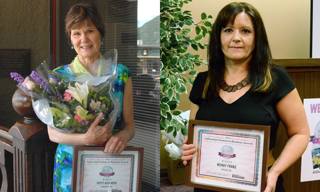 Patty Axenroth and Wendy Franz two of last year's Kootenay Influential Women in Business
