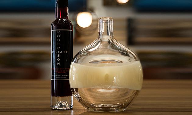 Artisan vinegar bottles.