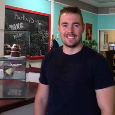Andrew Burke is co-owner of Burkey's Coffee House and Bake Shop in Cranbrook.