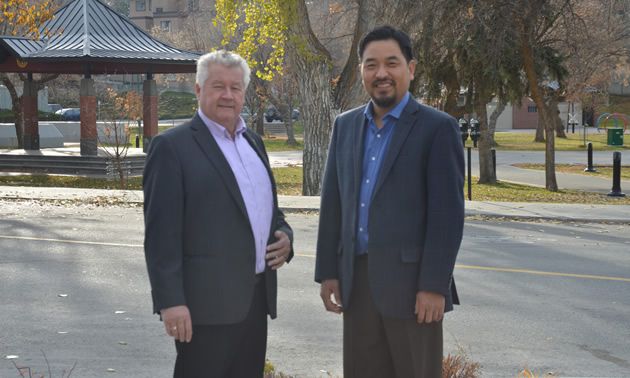 Lee Pratt, mayor of Cranbrook, and David Kim, the city's CAO. lead the team that's enabling exciting advances at city hall