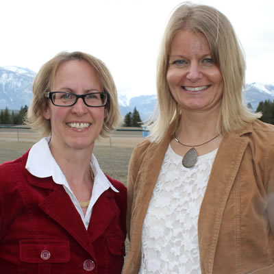 (L to R) Roberta Hall and Laurie Klassen are the chair and executive director, respectively, of the Columbia Valley Community Foundation.