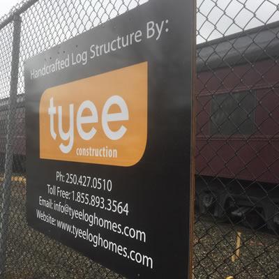 Tyee Homes sign