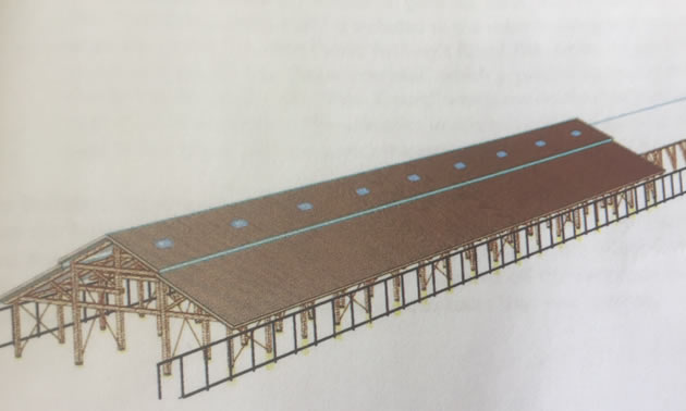 Artist's rendition of train shed.
