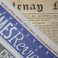 2014 newspaper lies on a newspaper from 1894