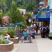 Downtown Revelstoke, B.C., is a busy place.