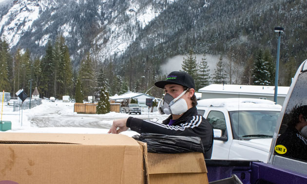 Chandler Lang, owner of Revelstoke Delivery.