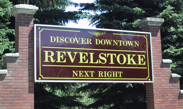 City of Revelstoke sign.