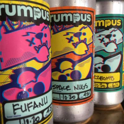Rumpus beer cans.