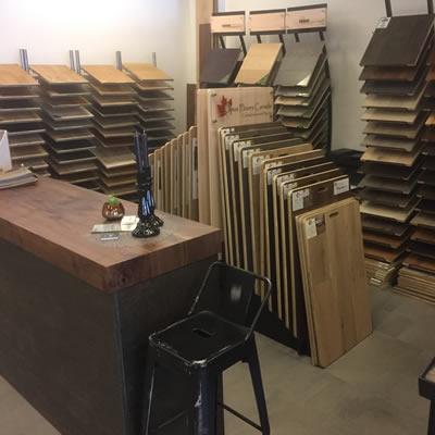 Picture of Samurai Hardwoood's new showroom.