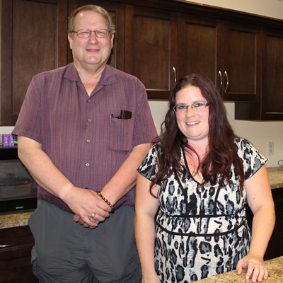 Ken Potter is the program co-ordinator, and LuAnne Oslund is the nutrition manager for Sanctuary Pre-Teen Centre in Trail, B.C.