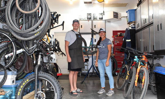 Owners of Sasquatch Cyclery.