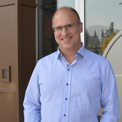 Sean Campbell, the general manager of Community Futures East Kootenay, stands outside the CFEK office at 131 - 7th Avenue South, Cranbrook, B.C.
