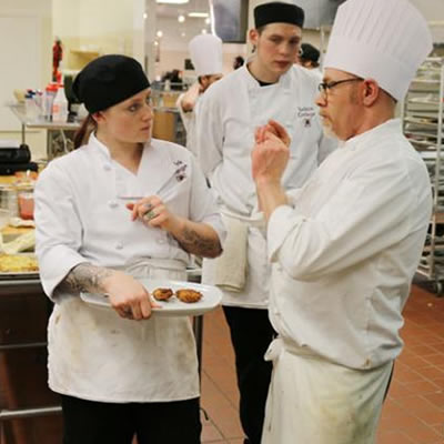 Selkirk College instructor Gary Thompson (right) will be leading the learning in the Professional Cook 3 Program starting on February 15 at Nelson's Tenth Street Campus.