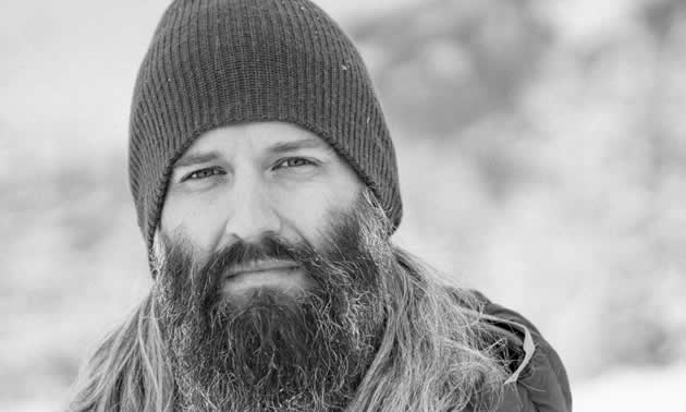 Shawn Bethune, executive director of the Kicking Horse Country Chamber of Commerce, is winter-ready in his toque, full beard and winter gear.