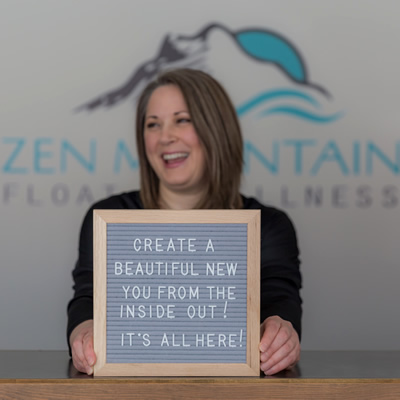 Shawna L'Heureux, owner of Zen Mountain Float + Wellness, was an Influential Woman in Business award winner in 2019.