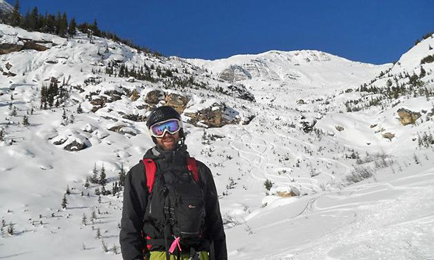 Kyle Hamilton on ski hill.