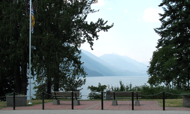 Slocan Lake and Valhalla Provincial Park in Slocan, B.C.